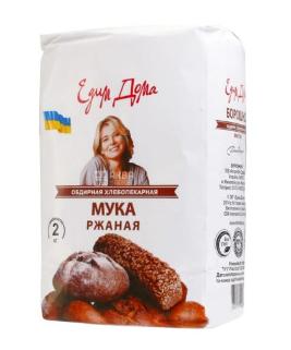 Купить Едим дома, Мука ржаная, обдирная, высший сорт, 2 кг