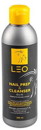 Купить Средство для обезжиривания и снятия липкого слоя Leo 2в1 Cleanser & Nail prep, 300мл