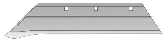 Лемех ПНЧС 01-702 с напл.Ст Л53