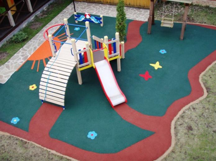 Купить Покрытие для детских игровых площадок