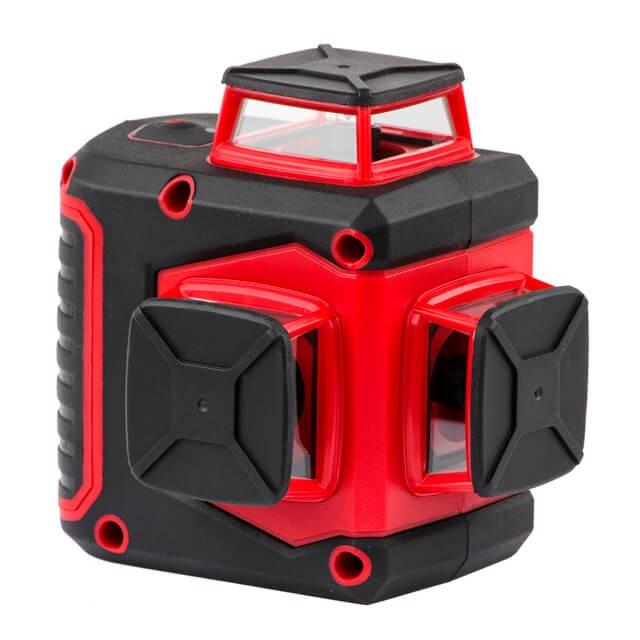 Купить Уровень лазерный 360 град, 3 лазерные головки, зеленый лазер INTERTOOL MT-3067