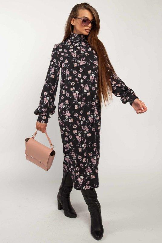 Купить Платье Ри Мари Амира ПЛ 1820 46 черный принт