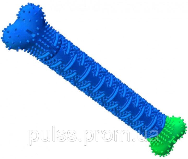 Купить Зубная щетка для собак ChewBrush самоочищающаяся 25 см синяя