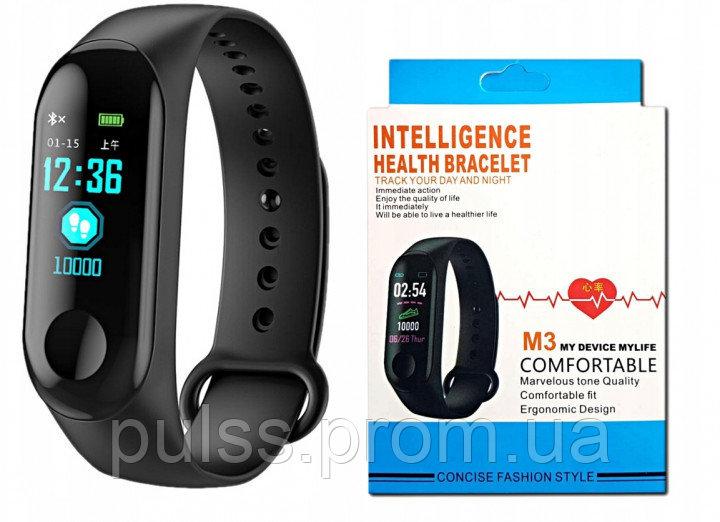 """Купить Фитнес браслет умный трекер цветной экран 0.78"""" M3 Fit USB Smart Bracelet черный"""