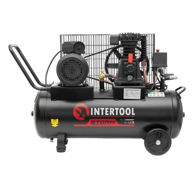 Компрессор 50 л, 1.8 кВт, 220 В, 10 атм, 250 л/мин. INTERTOOL PT-0011