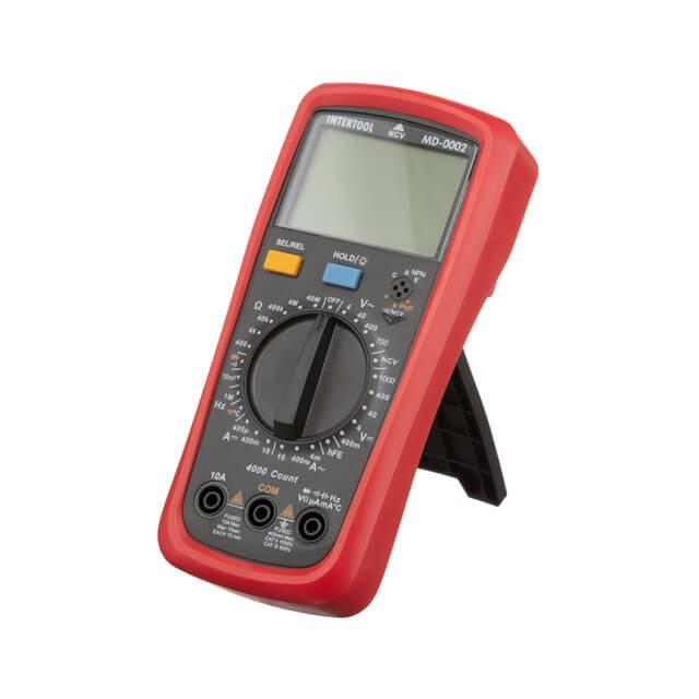 Купить Мультиметр цифровой CAT III-600В/CAT II-1000В INTERTOOL MD-0002