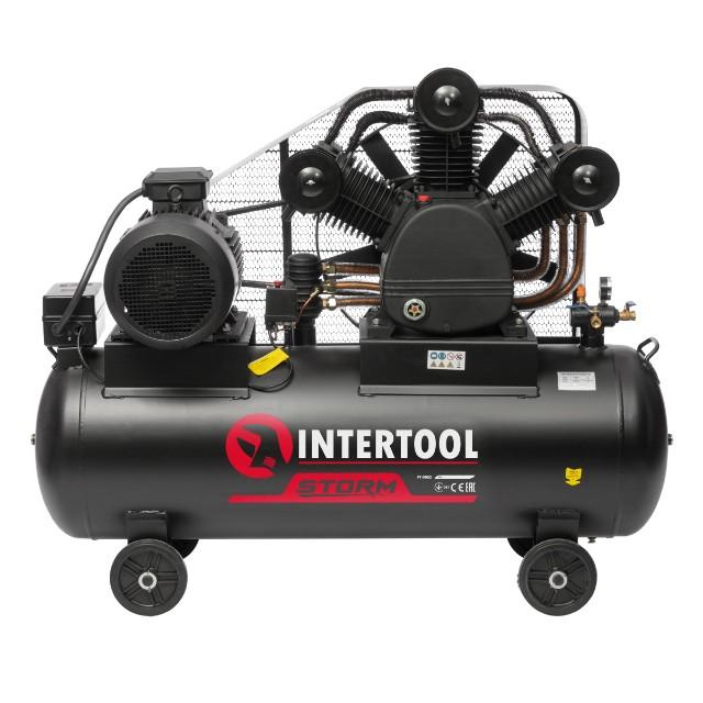 Компрессор 300 л, 15 кВт, 380 В, 8 атм, 2000 л/мин. 3 цилиндра INTERTOOL PT-0052