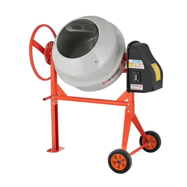 Бетоносмеситель 550 Вт, 140 л, 24-29 об/мин INTERTOOL DT-9140