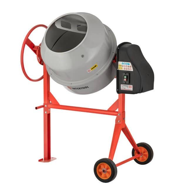 Бетоносмеситель 850 Вт, 180 л, 24-29 об/мин INTERTOOL DT-9180