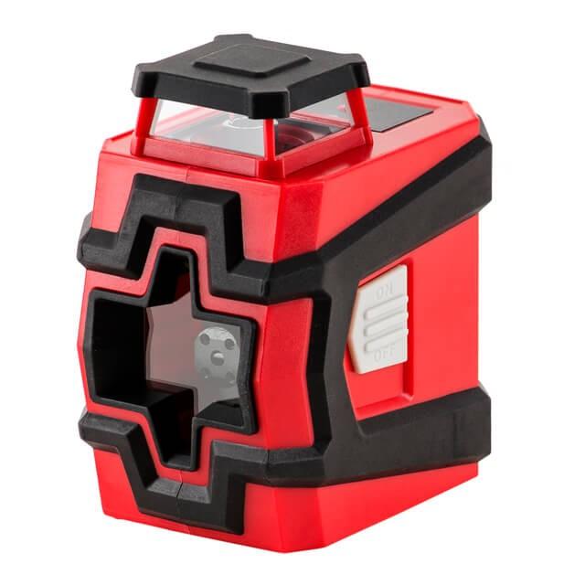Купить Уровень лазерный 360 град, 2 лазерные головки, зеленый лазер INTERTOOL MT-3062
