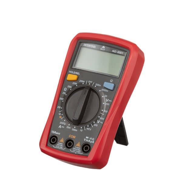 Купить Мультиметр цифровой CAT II-300В/CAT I-600В INTERTOOL MD-0001