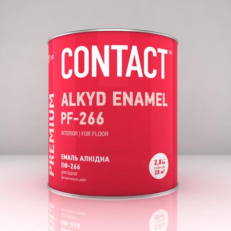 Эмаль ПФ-266 для пола ТМ «CONTACT 2.8, Золото-коричневый