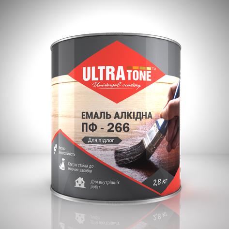 """Эмаль ПФ-266 для пола """"ULTRAtone"""" 50, Красно-коричневый"""