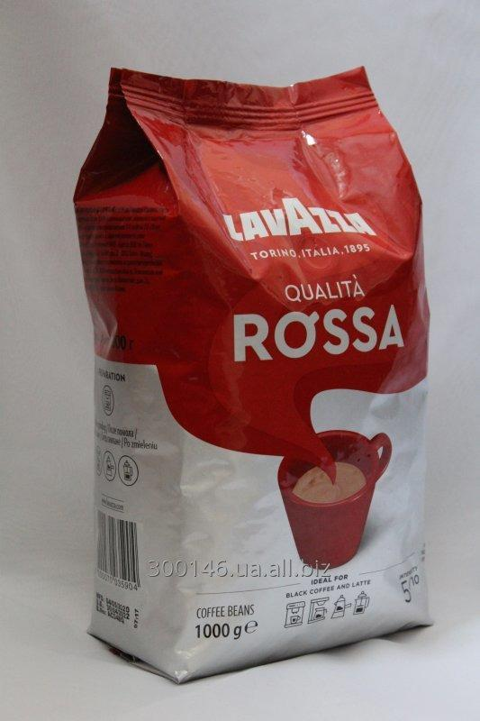 Buy Natural roasted coffee beans LAVAZZA QUALITA ROSSA 1000gr.