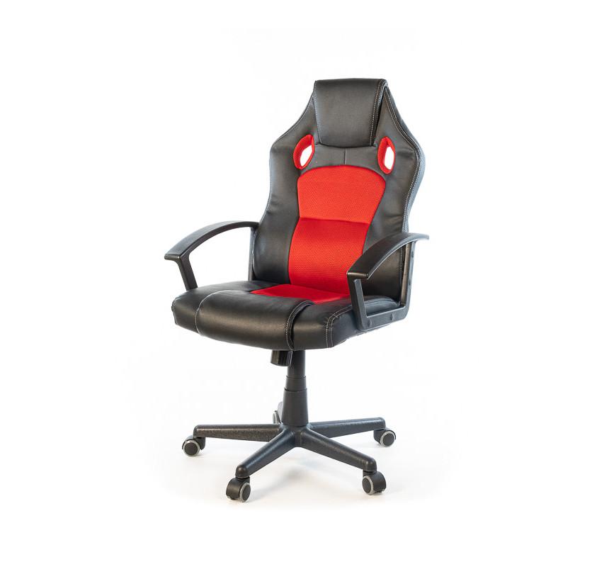 Кресло офисное Анхель, черно-красный, эргономичное компьютерное кресло, NEW PL TILT А-Клас