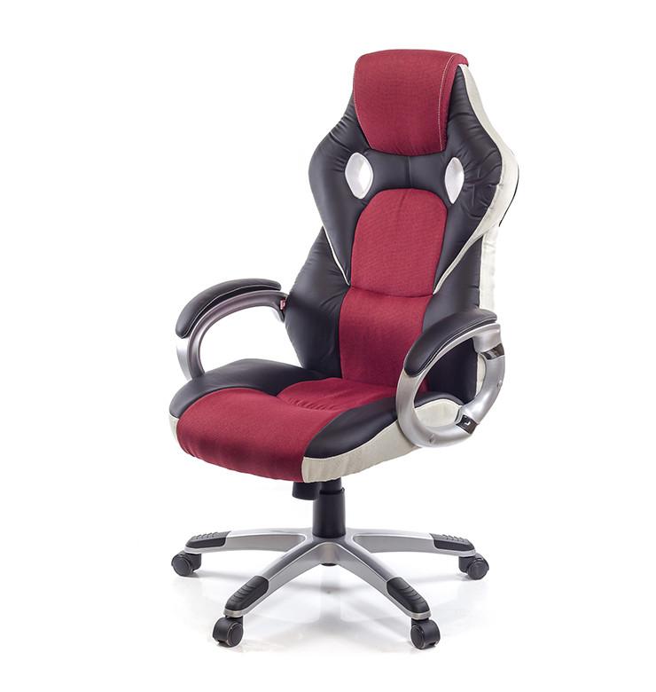 Кресло офисное Антарес, красный, компьютерные кресло на колесах с подлокотниками, PL TILT А-Клас