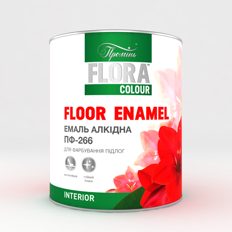 """Эмаль ПФ-266 для пола """"FLORA COLOUR"""" 2.8, желто-коричневый"""