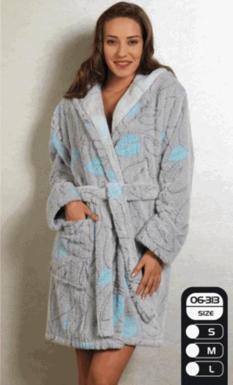 Халати з мікрофібри жіночі фірми Cocoon 06-313 купити в Донецьк fb2e03bc4762a