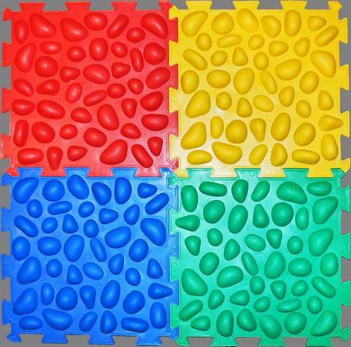 Купить Массажный коврик с эффектом морской гальки Пазлы 4 элемента