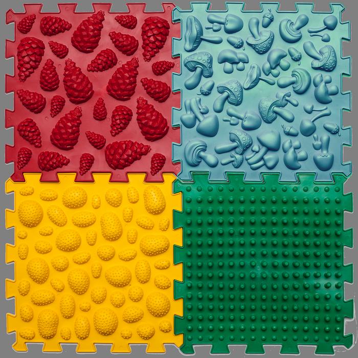 Купить Массажный коврик Пазлы Микс 4 элемента