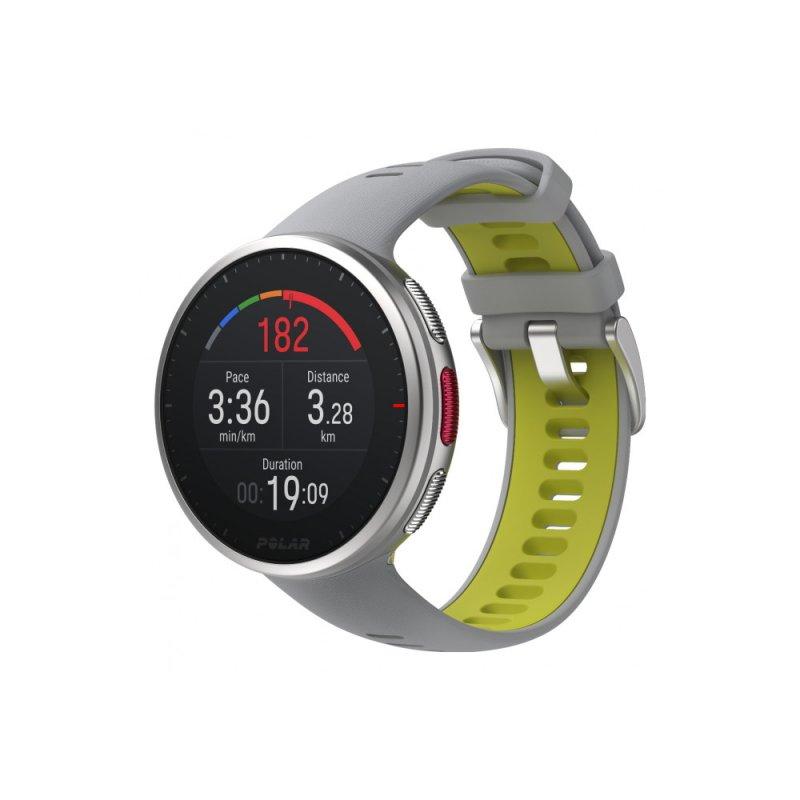 Купить Мультиспортивные часы Polar Vantage V2 Grey/Lime р.M/L (PL-90083651-grey/lime), серый/лайм