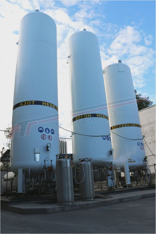Buy Capacity is 30 m3 cryogenic for storage and gasifications of cryogenic liquids of oxygen, nitrogen, argon, to Remtekhgaz, Kryvyi Rih, Ukraine