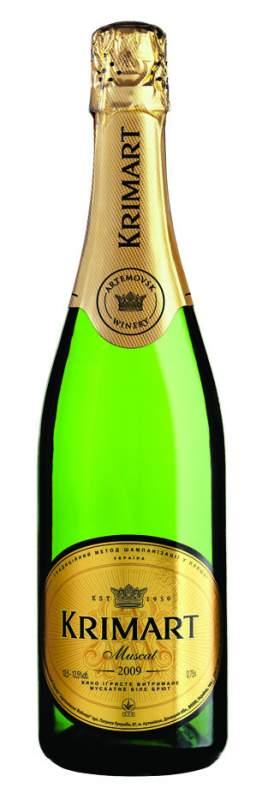 "Buy Sparkling wine (Champagne) ""White muscat brut"" KRIMART"