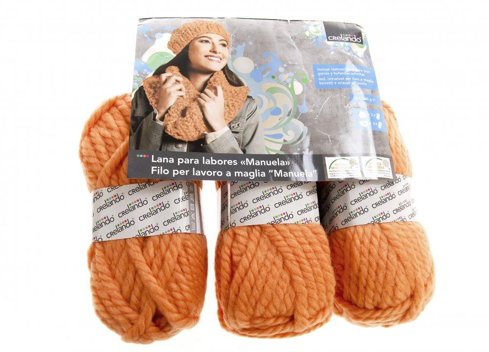 Купить Нитки пряжа для вязания Manuela 1517 Crelando 120 м оранжевый K10-551056