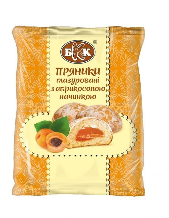 Пряники глазированные с абрикосовой начинкой,  190 г.