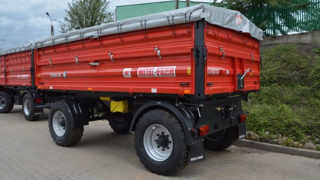 Прицеп двухосный  T 711/2 (Metal-Fach), 10 тонн
