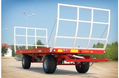 Прицеп Metal-Fach T 014/1 грузовой емкостью 9т. Сельськохазяйственная платформа