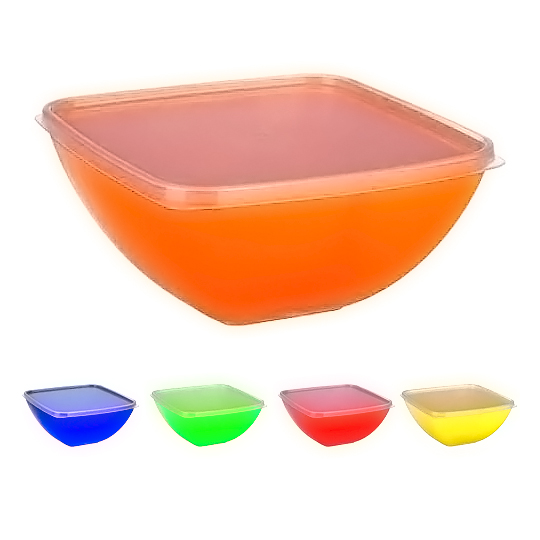 Buy Salad bowl square 0.5 l. with lid