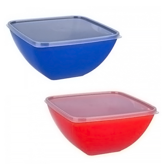 Buy Salad bowl square 1.5 l. with lid
