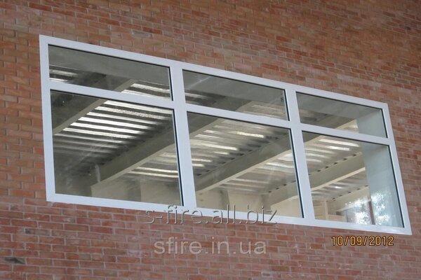 Купить Окно противопожарное наружное ЕІ 30 800х400мм (Цвет:белый)