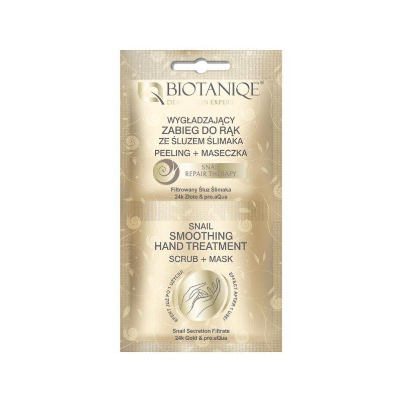 Купить Разглаживающая процедура для рук с муцином улитки Biotaniqe, 2х5 мл