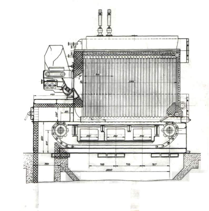 Котел паровой Е-2,5-0,9 (твердое топливо)