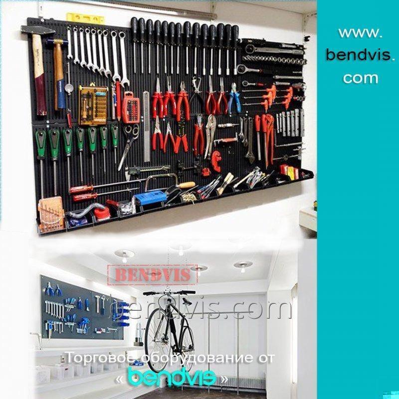 Перфорированные стеллажи для инструментов