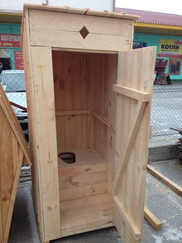Купить Туалет деревянный эконом с сиденьем