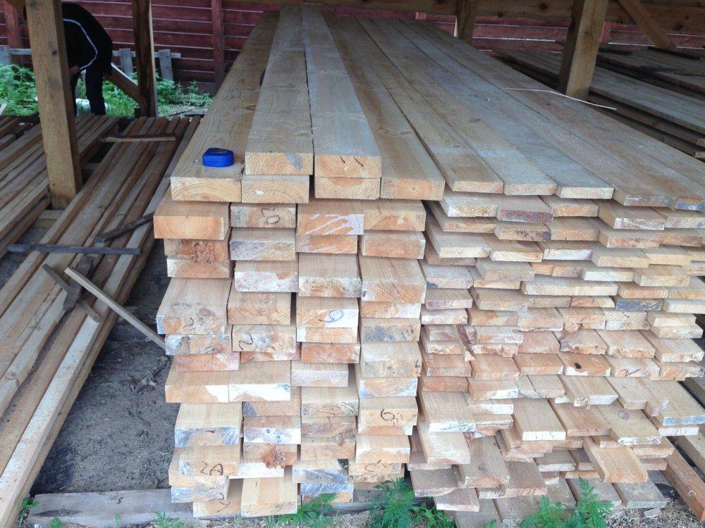 Купить Брус деревянный 50х150 мм ( сосна )