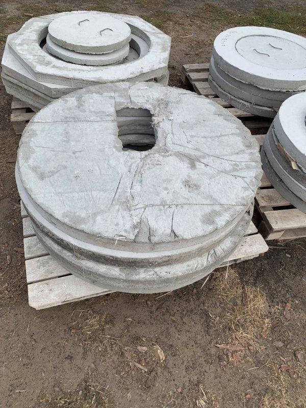 Купить Крышка железобетонная под туалет диаметр 0,94м