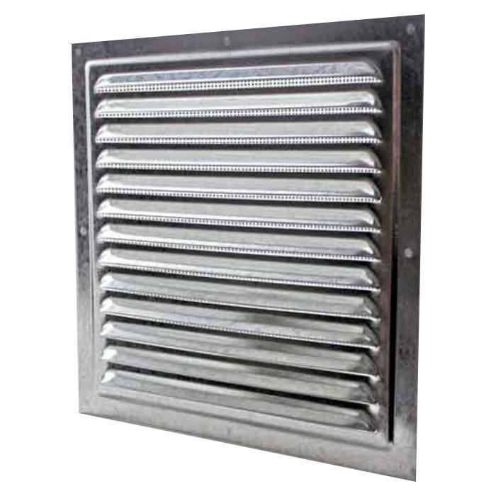 Купить Решетка вентиляционная 150х150 оцинкованная с сеткой , Сталь NEW