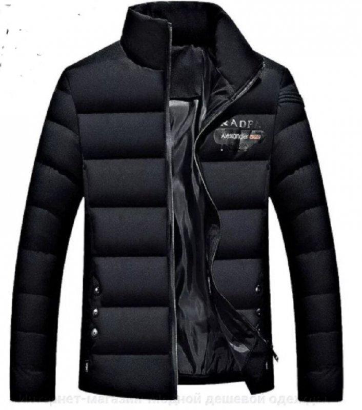 Модная, толстая, теплая мужская куртка -пуховики -парка с воротником на белом утином пуху.