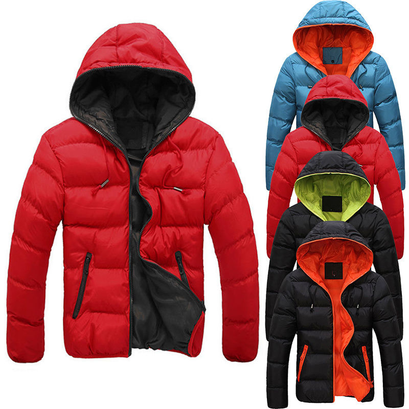 Купить Зимняя плотная, теплая куртка с капюшоном для мужчин
