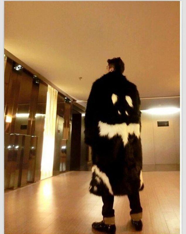 Теплые, модные мужские зимние меховые куртки (черное платье, белый дьявол) на меху.