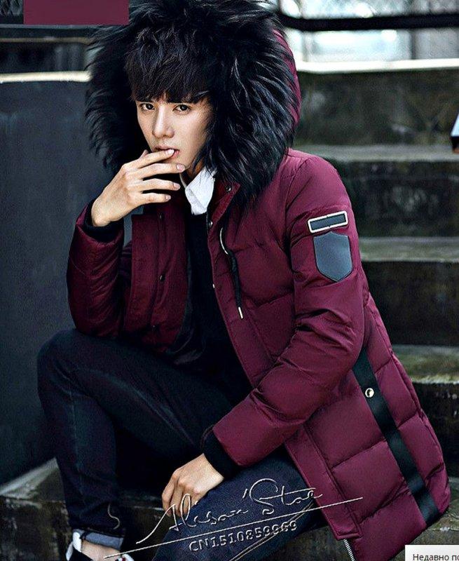 Модные, зимние, теплые куртки-пуховики на молнии на утином пуху.