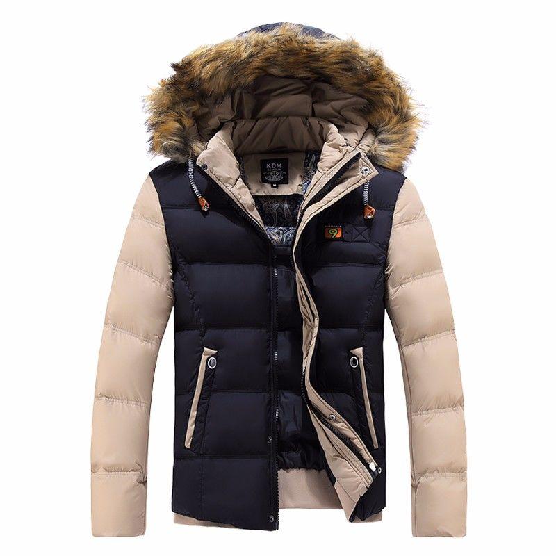 Купить Зимние брендовые куртки-парки для мужчин на утином пуху.