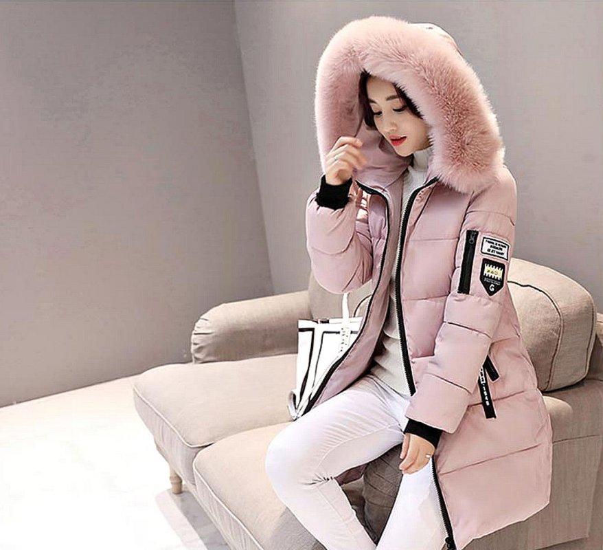 Женская толстая, длинная, зимняя куртка с капюшоном