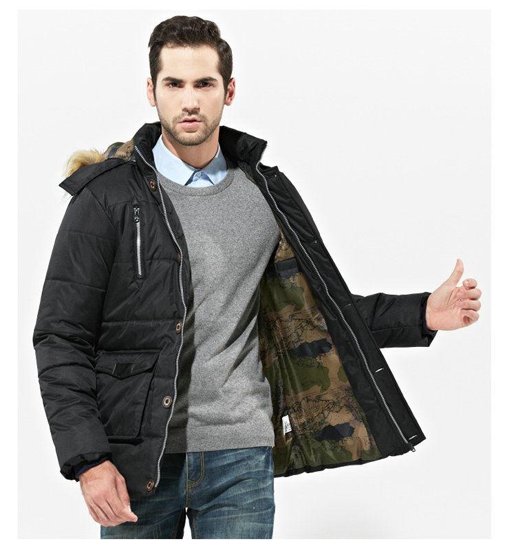Мужская теплая зимняя куртка- парка с капюшоном.