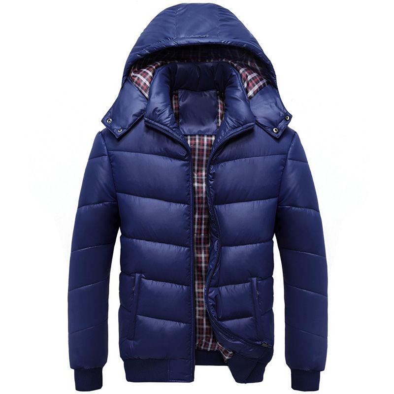 . Брендовая зимняя пуховая куртка-парка для мужчин с капюшоном.
