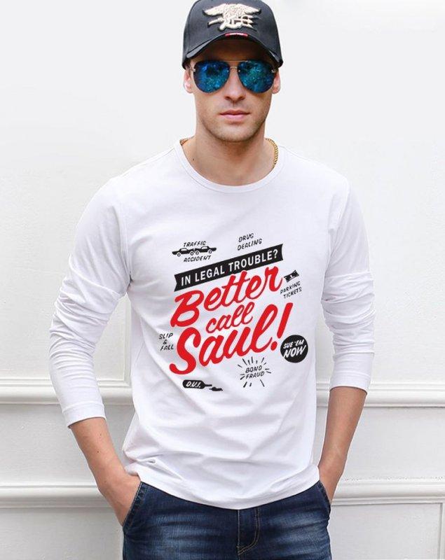 Зимняя модная футболка (САУЛ Breaking Bad руно) высокого качества для мужчин.